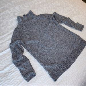Old Navy Gray Mock Neck Sweater Soft Stretch Small